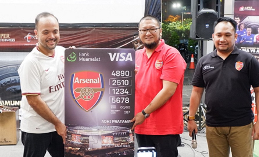 Bank Muamalat Luncurkan Kartu Debit Shar-e Arsenal FC