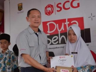 acara Duta Sehat di Pondok Pesantren (Ponpes) Al-Istiqomah, Sukabumi, Jawa Barat.