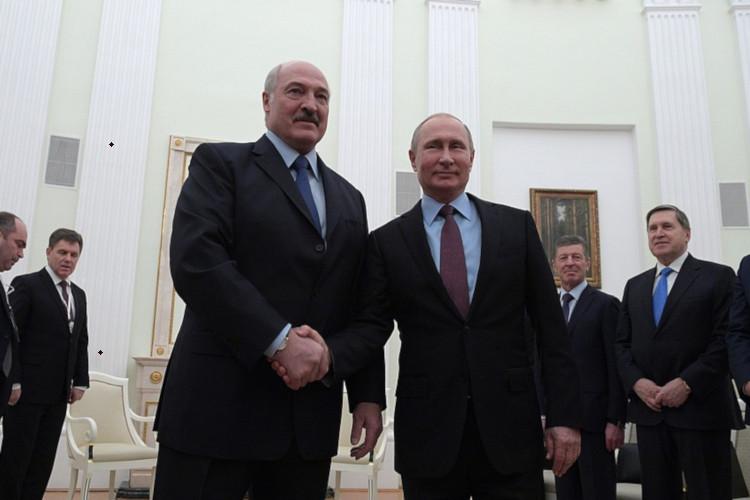 vladimir putin dan presiden Belarus