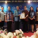 BCA Terima Sertifikat ISO 9001:2015
