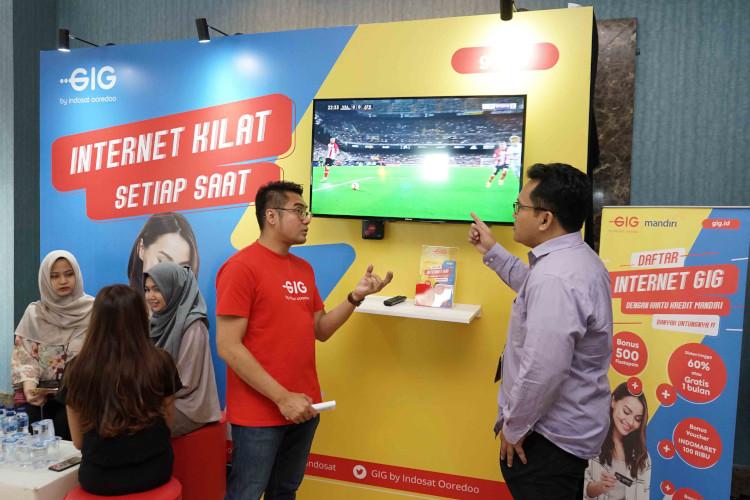 Bank Mandiri, Indosat Oordeoo, milenial, wifi