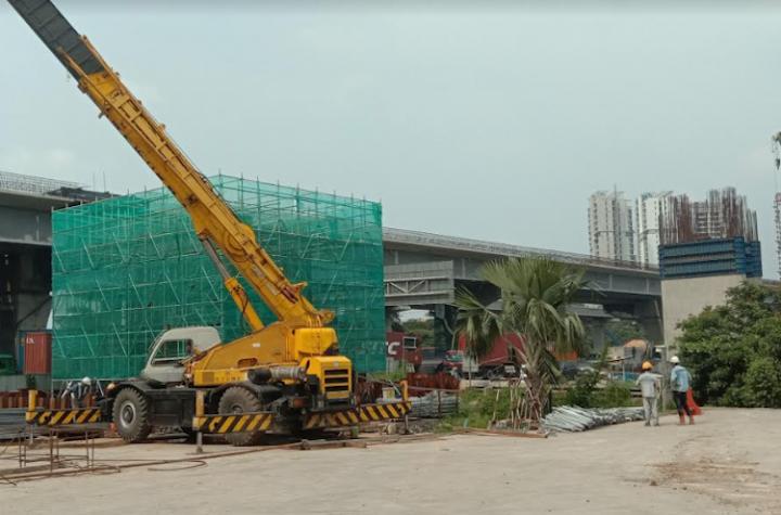 Salah satu proyek infrastruktur Indonesia-Cina