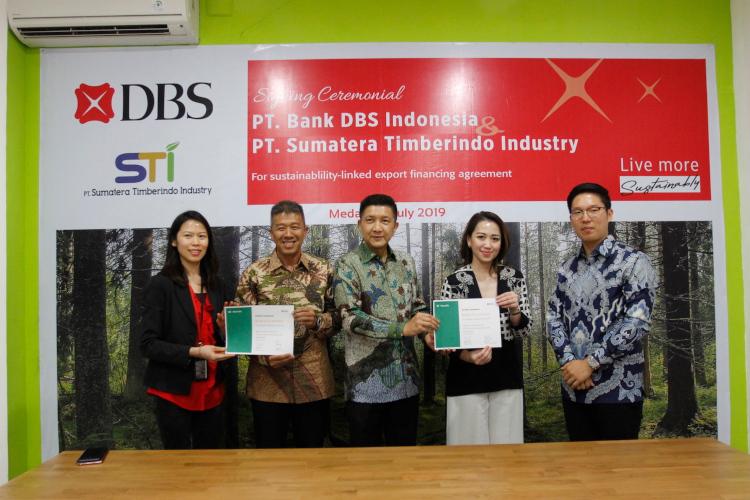 Bank DBS kerjasama dengan PT SUmatera Timber Industry