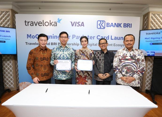 BRI-Traveloka-Visa terbitkan kartu PayLater