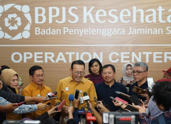 Menteri Kesehatan Bersama dengan Dirut BPJS KEsehatan
