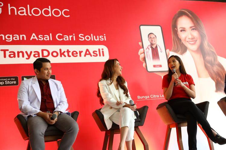 BCL (tengah) Dalam Peluncuran #TanyaDokterAsli