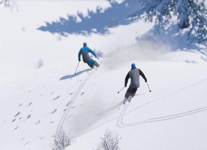 Bermain ski es