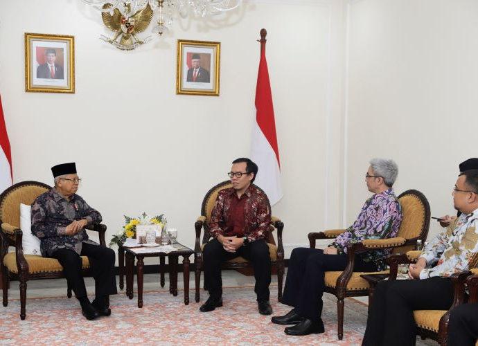 Pertemuan wapres dan pimpinan Bukalapak