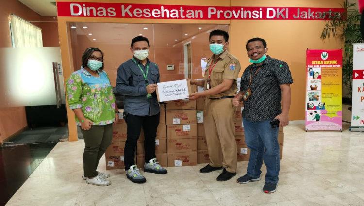 Penyerahan bantuan Kalbe ke Dinas KEsehatan DKI Jakarta