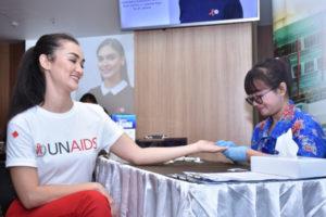 Pia Urbah, Duta UNAIDS tes HIV