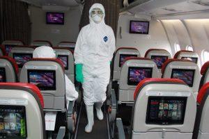 Pencegahan covid-19 di pesawat