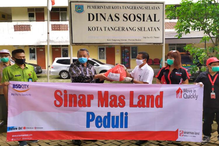 Bantuan pangan Sinar Mas Land