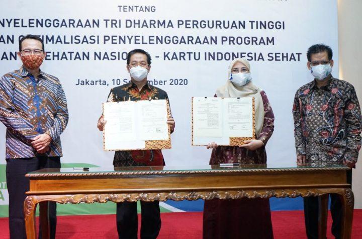 penandatangan kerjasama BPJS Kesehatan dan UIN