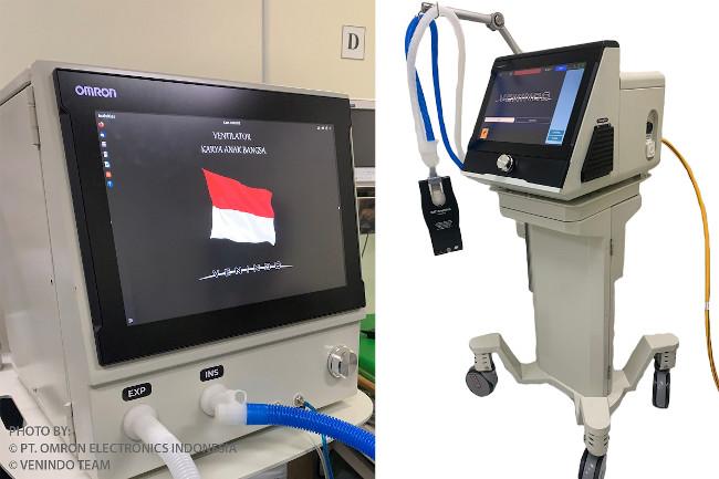 Tim VENINDO mengundang OMRON yang merupakan salah satu pemain utama dalam industri otomasi untuk bergabung pada pengembangan ventilator.