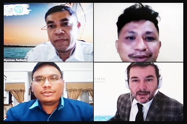 """Webinar berjudul """"Komunitas Pesisir dan Pulau-Pulau Kecil dalam Perubahan Iklim"""""""