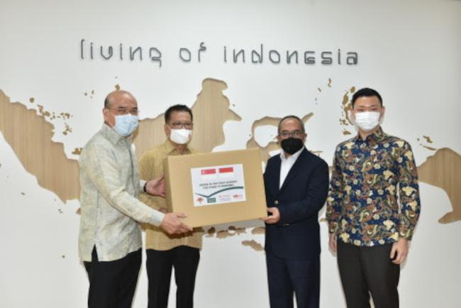 Tanoto-Temasek serahkan batuan tes COVID-19 melalui DubesRS untuk Singapura
